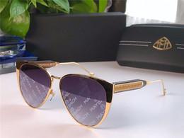 Cars eyes online shopping - New fashion luxury car brand MAYBACH sunglasses cat eye frame avant garde design style top quality coating color printing uv400 lens