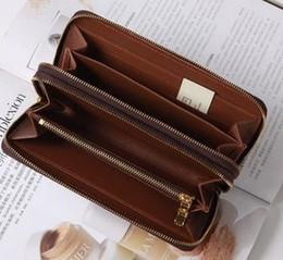 $enCountryForm.capitalKeyWord NZ - Hiqh Quality Factory Supply Double Zippy Around Grid Genuine Leather Men's Wallet Large Travel Case Designer Phone Case Bill Bag Card Holder