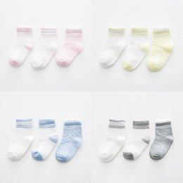 Absorbent Cotton Australia - INPEPNOW 3 Pairs Children's Sock Sweat-absorbent Breathable Cotton Mesh Summer 2019 Baby Boy Socks for Girls Kids Sock WZ-CZX105