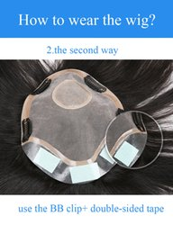 Human Hair Toupee For Men Australia - Wholesale men Hairpieces for Sale Brazilian remy human hair with toupee Double-sided gum and BB CLIPBrazil