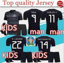8c6c39c1b 2018 World Cup Mexico Away White Soccer Jersey Mexico Away Soccer Shirt  2018 KIDS KIT World Cup  14 CHICHARITO 22 LOZANO Football Uniform Si