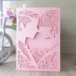 romantic pink wedding party decorations NZ - 35Pcs  lot Prince And Princess Wedding Invitation Card Envelope Fancy Dress Party Decoration Romantic Valentine's Day Gift Cards