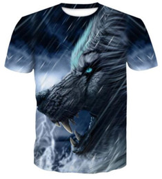 Wholesale t shirts different styles for sale – custom With as many different colors styles popular D Wolf Print short sleeve T shirt apparel Uniforms kits Sports Personality Design athletic