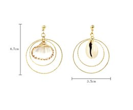 f72468ffb Asymmetric ring online shopping - S925 Silver Needle Resort Earring Shell  Shell Shell Asymmetric Earring Multilayer