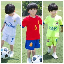$enCountryForm.capitalKeyWord Australia - 2019 Summer kids jersey boy sports suit training suit short-sleeved round neck two-piece children's soccer clothing retail