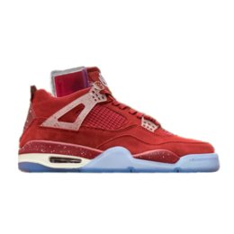 basketball player sneakers NZ - 4s Oklahoma PE Red Suede 4 Basketball Shoes player edition TOP Factory Version mens trainers 2019 Sneakers with Box