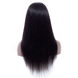 Chinese  Lace Front Human Hair Wigs Pre Plucked with Baby Hair Brazilian Malaysian Peruvian Virgin Straight 4x4 Lace Closure Wig manufacturers