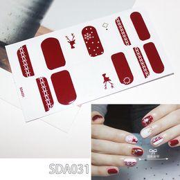 $enCountryForm.capitalKeyWord Australia - 10 Sheets pcs Fake Nails with Christmas Snowflake Elk Designs Artificial Nail for New Year Fake Nail Art Tips Christmas Gift Decoration