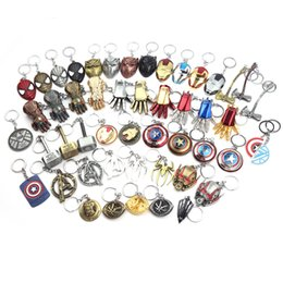 mjolnir hammer avengers Australia - Marvel Avengers 4 Iron Man Mask Thor's Hammer Mjolnir Keychain Captain America Shield mjolnir Infinity Gloves For Men Women Fans