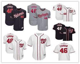 5b7fe6e2ea6 2019 custom Men s Nationals 46 Patrick Corbin Washington White Home Cool  Base Player women kids Jersey