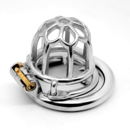 China New Design Cage Metal Male Chastity Devices Adult Cock Cage Anti-Off Ring BDSM Sex Toys Bondage Chastity Belt cheap anti sex belt suppliers