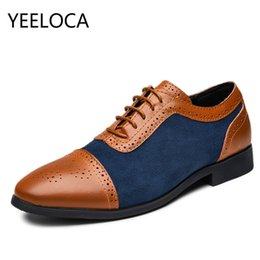 Men's Shoes Shoes Yeeloca British Mens Slip On Split Leather Pointed Toe Men Dress Shoes Business Wedding Oxfords Formal Shoes Male Size 38-48 Beautiful In Colour