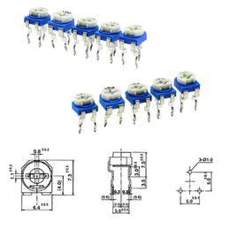 $enCountryForm.capitalKeyWord Australia - 10pcs RM065 RM-065 100 200 500 ohm 1K 2K 5K 10K 20K 50K 100K 200K 500K 1M ohm Trimpot Trimmer Potentiometer Variable Resistor
