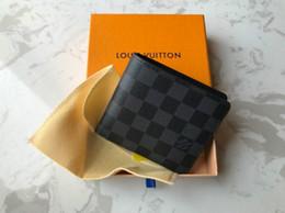 Vente en gros Avec la boîte Portefeuille pour homme 2018 Nouveaux hommes en cuir avec des portefeuilles pour hommes