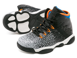 Cheap Breathable Basketball Shoes Australia - Children's Basketball Shoes Kids Retro Sports Shoes Boys Girls Youths Black Athletic Sneakers Cheap For Sale size: 28-35