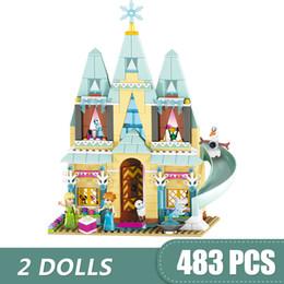 $enCountryForm.capitalKeyWord Australia - 493PCS Small Building Blocks Toys Compatible with Legoe Arendelle Castle Celebration Gift for girls boys children DIY