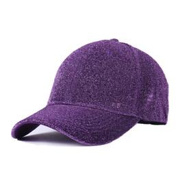 220f1a31db0 Solid Laser Super Glitter Ponytail Branded Baseball Cap Women Snapback Hip  Hop Caps Female Sequins Shine Summer Hats Bone Men
