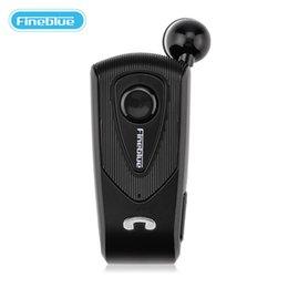 Fineblue Stereo Australia - Fineblue F930 Retractable Wireless Bluetooth Earphones for Business