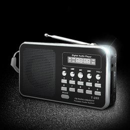 portable sd usb mp3 music speaker 2019 - Portable Radio FM Support SD TF Card Mini FM Radio Receiver Digital with USB LED Light Music Player for Phone MP3 MP4 Sp