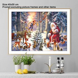 paintings for Australia - 5D Diy Diamond Painting Full Round Christmas Decorations for Home Santa Claus Daimond Painting Accessories Adornment Picture