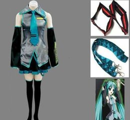 Discount vocaloid girl cosplay - Anime Vocaloid Hatsune Miku Cosplay Costume Halloween Women Girls Dress Full Set Uniform and Many Accessories