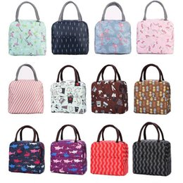 $enCountryForm.capitalKeyWord Australia - Lunch Bags Oxford Thermal Insulated Lunch Box Tote Cooler Bag Bento Pouch Lunch Container School Food Storage Bags Flamingo Unicorn LX7807