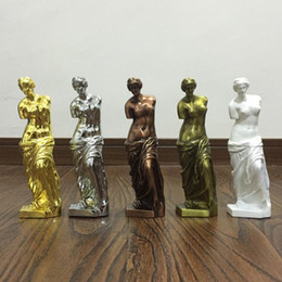 sculpture figures Canada - European Metal Crafts Venus Goddess Figure Sculpture Decoration Art Decoration Ornaments Creative Home Furnishing Miniatures
