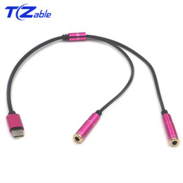 Song Stereo Australia - Type-C To 3.5MM Audio Extension Cable Male To Female Mobile Phone Cable Charging Listening Song Two In One For Huawei For Millet