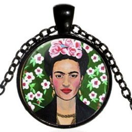 Alloy Jacket Australia - MEXICO AWESOME FRIDA KAHLO ALLOY GLASS SWEATER NECKLACE COLLAR JEWELR FREE STYLE COLLARBONE JACKET JERSEY T-SHIRT SPORTY WEAR NECKLACES