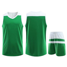 jersey basketball best UK - Best Selling Customized Training Sportswear Basketball Jersey Green Running Jogging Men Women Striped Trendy Clothing Suit Plus Size 5XL