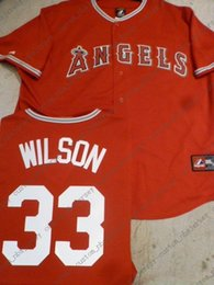 $enCountryForm.capitalKeyWord Australia - Cheap custom Anaheim CJ C.J. WILSON Baseball JERSEY RED Stitch customize any number name MEN WOMEN YOUTH baseball jersey XS-5XL