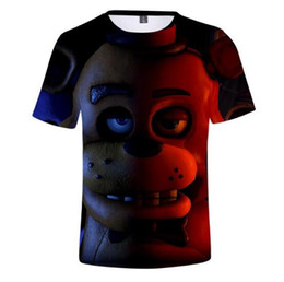 Grils Shirts Australia - Five Nights at Freddy Hot Sale 3D Short SleeveSkull Print Fashion T-shirts Print boys grils Summer TShirts Tops Tee