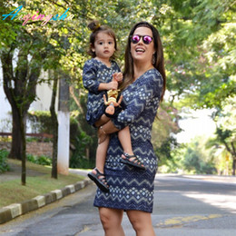 $enCountryForm.capitalKeyWord NZ - Mommy Me Mother Dresses Family Matching Clothes Striped Mum Mom And Daughter Dress Mama Baby Parent Child Outfits Q190521