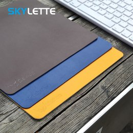 Desk Pad Waterproof PU Leather Mouse Pad Smooth Desk Mat Pad Blotter Non-Slip Protector for Office and Home,Rectangular-Beige-80x40cm