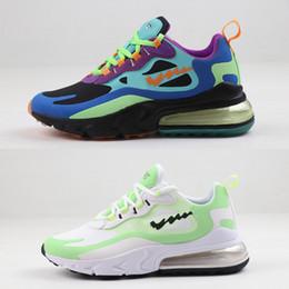 Reagir corrida sapatos de luxo Bauhaus Optical Violet Electro Hiper Jade Chalk Lagoa Homens Mulheres design respirável esporte das sapatilhas 5.5-12 em Promoção