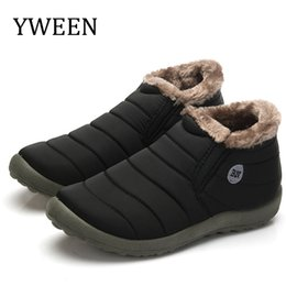 Plus size waterProof snow boots online shopping - Solid Color Snow Boots Men Warm Waterproof Boots Slip on Men s Winter Shoes Plus Size