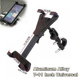 "China 1 Pc Black Aluminum Motorcycle Tablet Phone PC Pad GPS Bracket Rotating Holder 7""-11"" Universal suppliers"