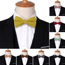 ivory lycra shirt Australia - NEW Bow Tie Classic Shirts Bowtie For Men Business Wedding Bowknot Adult Solid Color Bow Ties Cravats Candy Color Ties