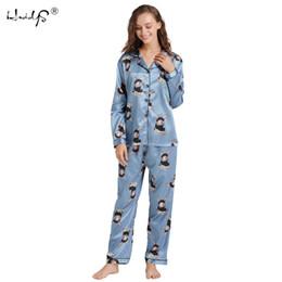 Pink Body Suits Australia - All Seasons Long Sleeve Silk Pajamas Suit Women Lounge Pajama Sets Silk Satin Pijama Sleepwear Pyjamas The Maximum Body 5xl