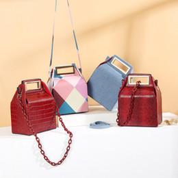 Box Handbags NZ - Luxury Acrylic Women's Handbag Designer Crossbody Bags For Crocodile Box Evening Clutch Purse Tote Bag shoulder Messenger Bags