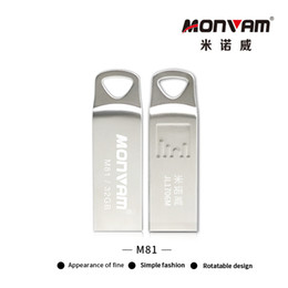 Étanche RUSB Flash Drive USB 2.0 Mémoire Flash Stick en Métal Argent Stylo Disque Disque avec un trou triangulaire pour Monvam M81 en Solde