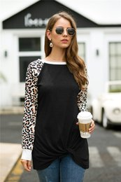 leopard print t shirt women s Australia - Hot Sale Women T Shirt Fashion Leopard Print Patchwork T-shirt Casual Long Sleeve Women Tops Tees Plus Size S-XXL MDL4