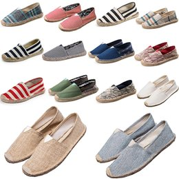 66bd789135 14 Colors Straw Woven Loafer Sneakers Slip-On Casual Lazy Shoes for Women  and Men Fashion Canvas Loafers Flats Size 35-45
