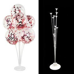 balloons columns Canada - 711 Tubes Event & Supplies Festive & Party Supplies Stand Balloon Holder Column Clear Plastic Balloon Stick Birthday Party Decoration Kids W
