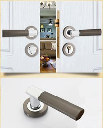 Bathroom Lever Australia - Lever Mute Set Narrow Mortise Door Locks Cylinder And Handle Sash Case Bathroom Home Furniture & DIY Home Security Locks