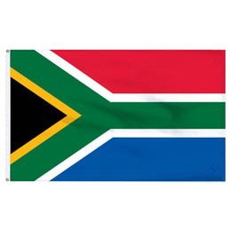 Wholesale south african flag for sale - Group buy Free Shpping in Stock Nations Flags x5FT x150cm Hanging ZA RSA SA South Africa Flag of African Banner for Indoor Outdoor Decoration