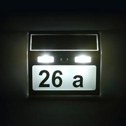 $enCountryForm.capitalKeyWord Australia - Waterproof House Number Solar Power Light Sign House Hotel Door Address Plaque Number Digits Light Silver