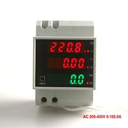 $enCountryForm.capitalKeyWord Australia - Digital Voltage Amp Meter With Working Time Din Rail Led Active Power  W Factor Display Range Ac 200--450v 0 -100 .0a Energy Kwh