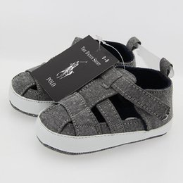$enCountryForm.capitalKeyWord Australia - Baby POLO Shoes For Summer Newborn Infant Toddler Boys Girls Sandals First Walkers Baby Antiskid Shoes 0-18Mos