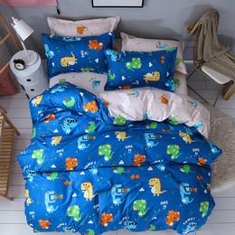 $enCountryForm.capitalKeyWord NZ - Cute Home Textile Dinosaur Cartoon Lovely Bedding Sets Duvet Cover Pillowcase Sheet Linen Twin Full Queen King Size for kids